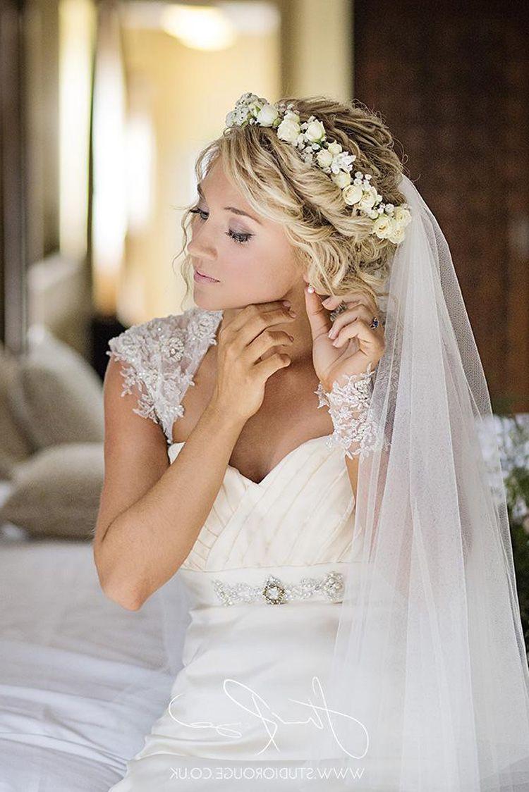 Brautfrisuren Schleier und Diadem  Einfache Frisuren  Bridal