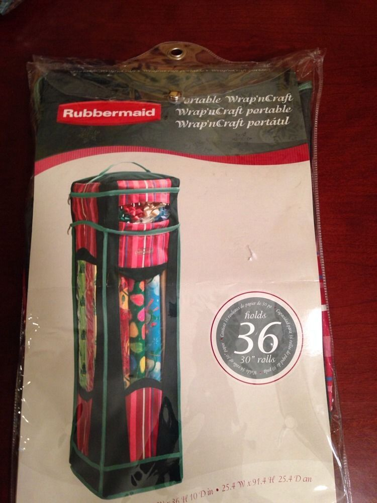 Rubbermaid Portable Wrap N Craft Wring Paper Ribbons Storage New Htf