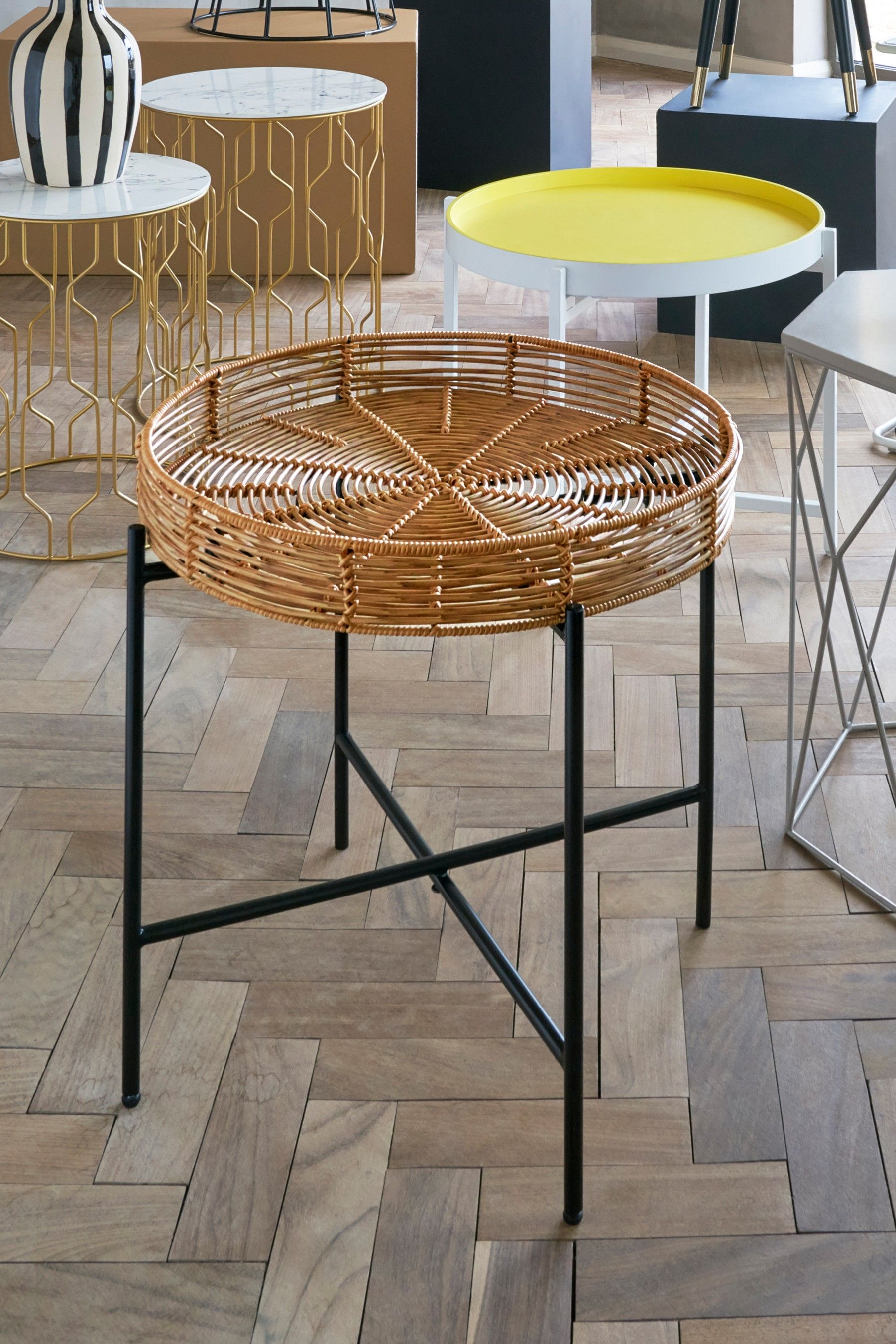 Best Next Woven Tray Side Table Natural With Images 400 x 300