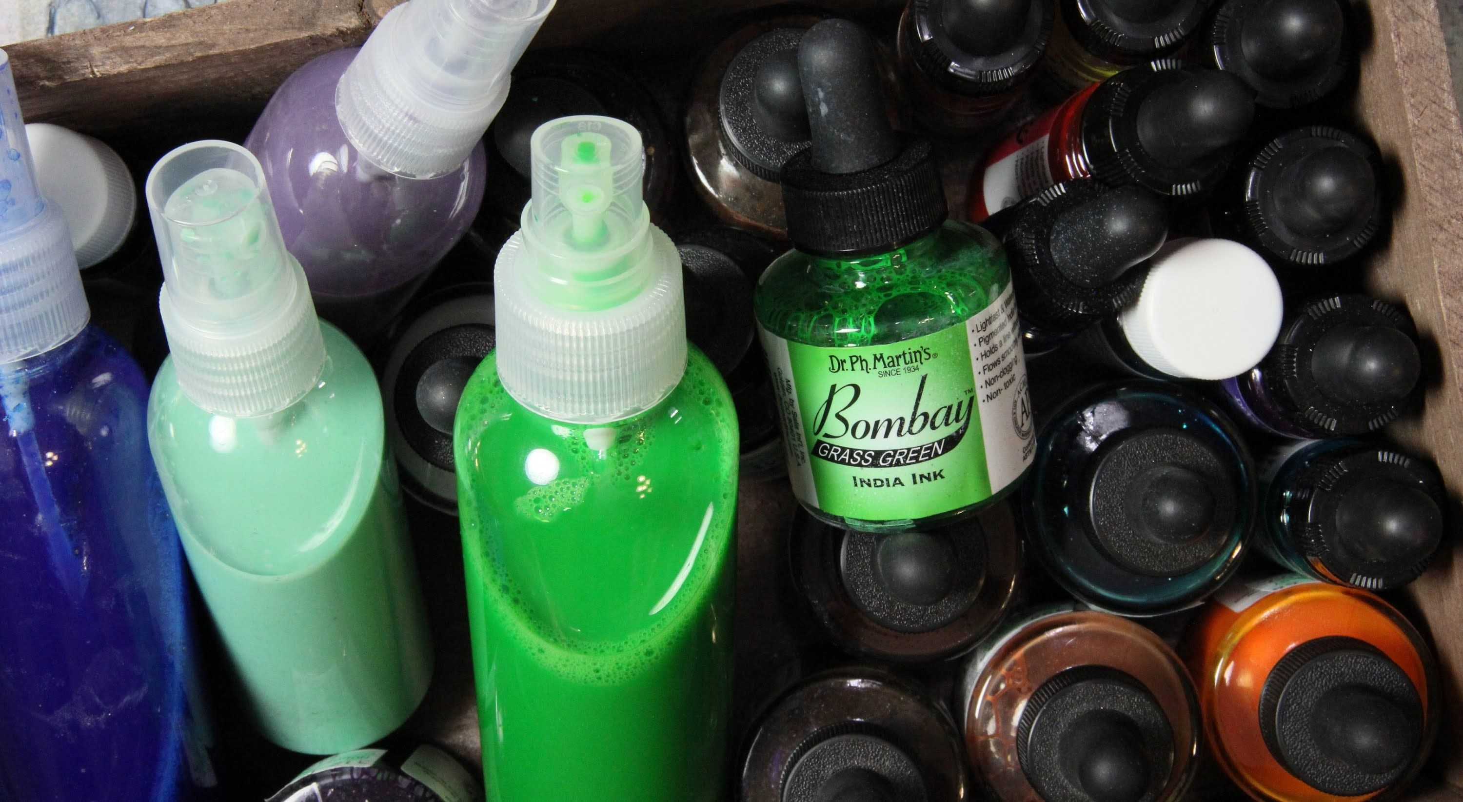 Fast and Simple way to make Homemade India Ink Spray using