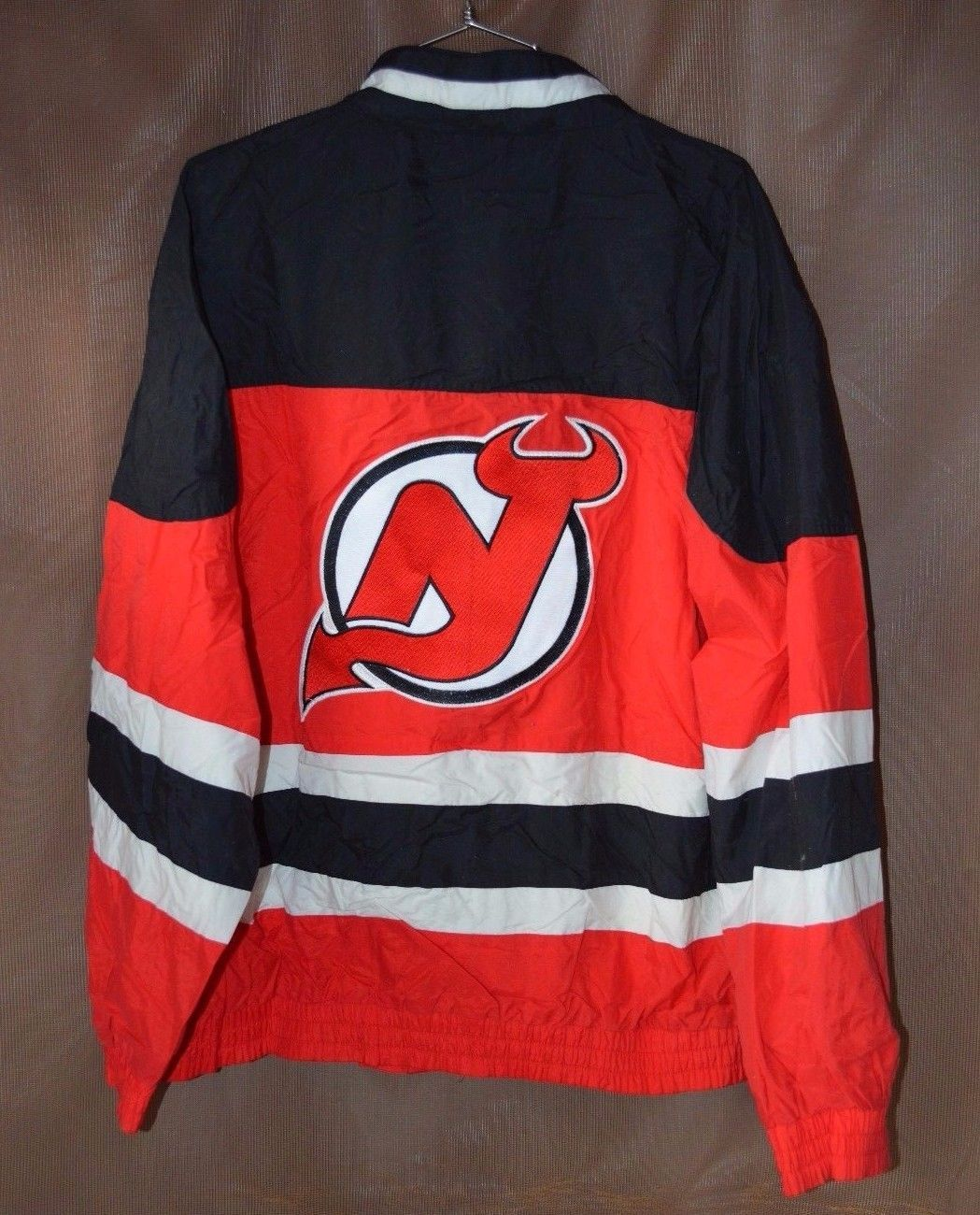 9666c5a2f Rare Vintage 90s Apex One NHL New Jersey Devils Hockey Jacket Mens M Starter  please retweet