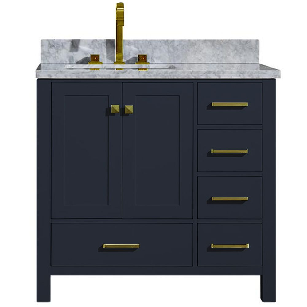 Premier Cultured Marble Vanity Top 49x22 With Left Offset Bowl