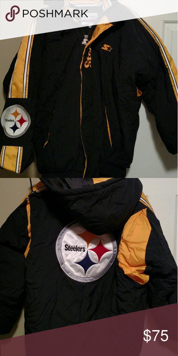 the latest ee05d 66922 Men's NFL ProLine Starter Steelers winter jacket Men's NFL ...