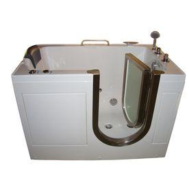 Northeastern Bath 52 In White Acrylic Walk In Whirlpool Tub With