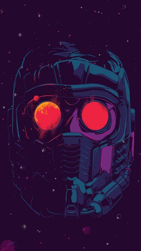 Star Lord Face Mask iPhone Wallpaper Free_1 GetintoPik