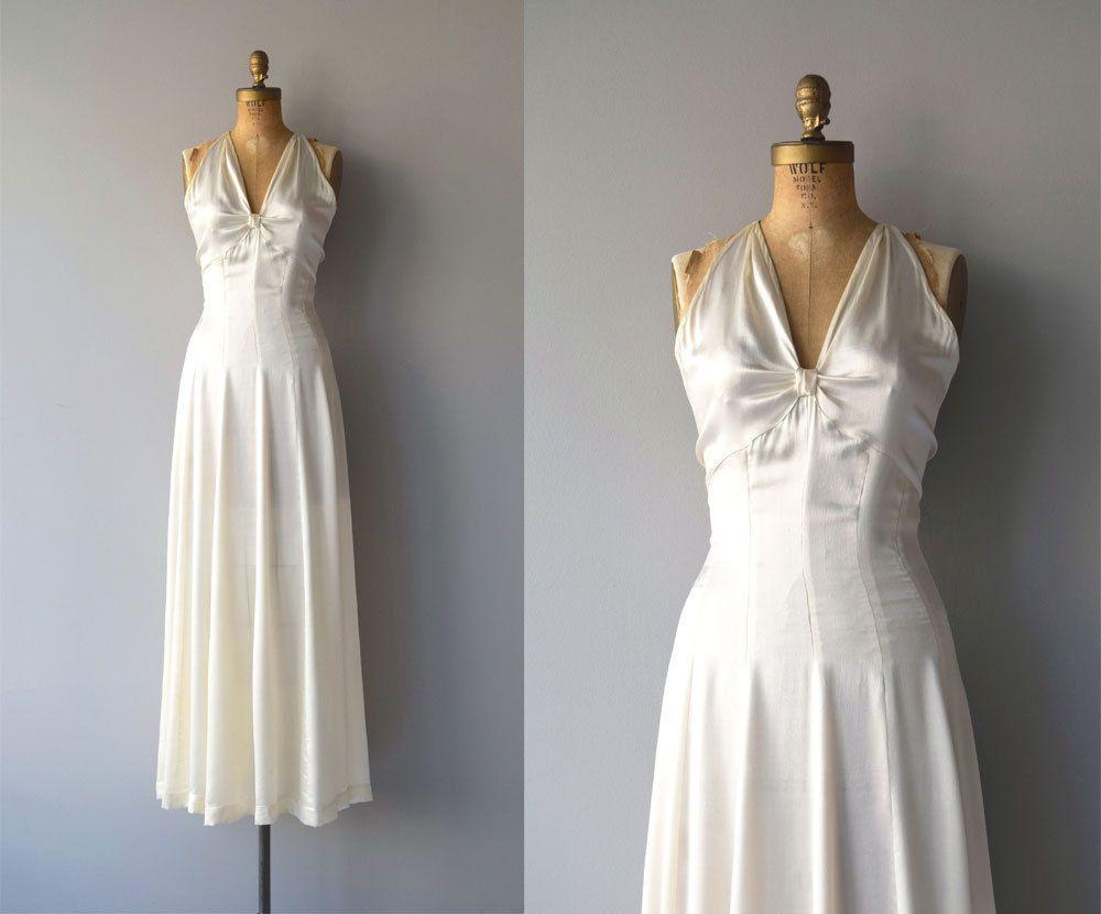 Ardennen Seide Hochzeitskleid  Vintage 11er Jahre Brautkleid