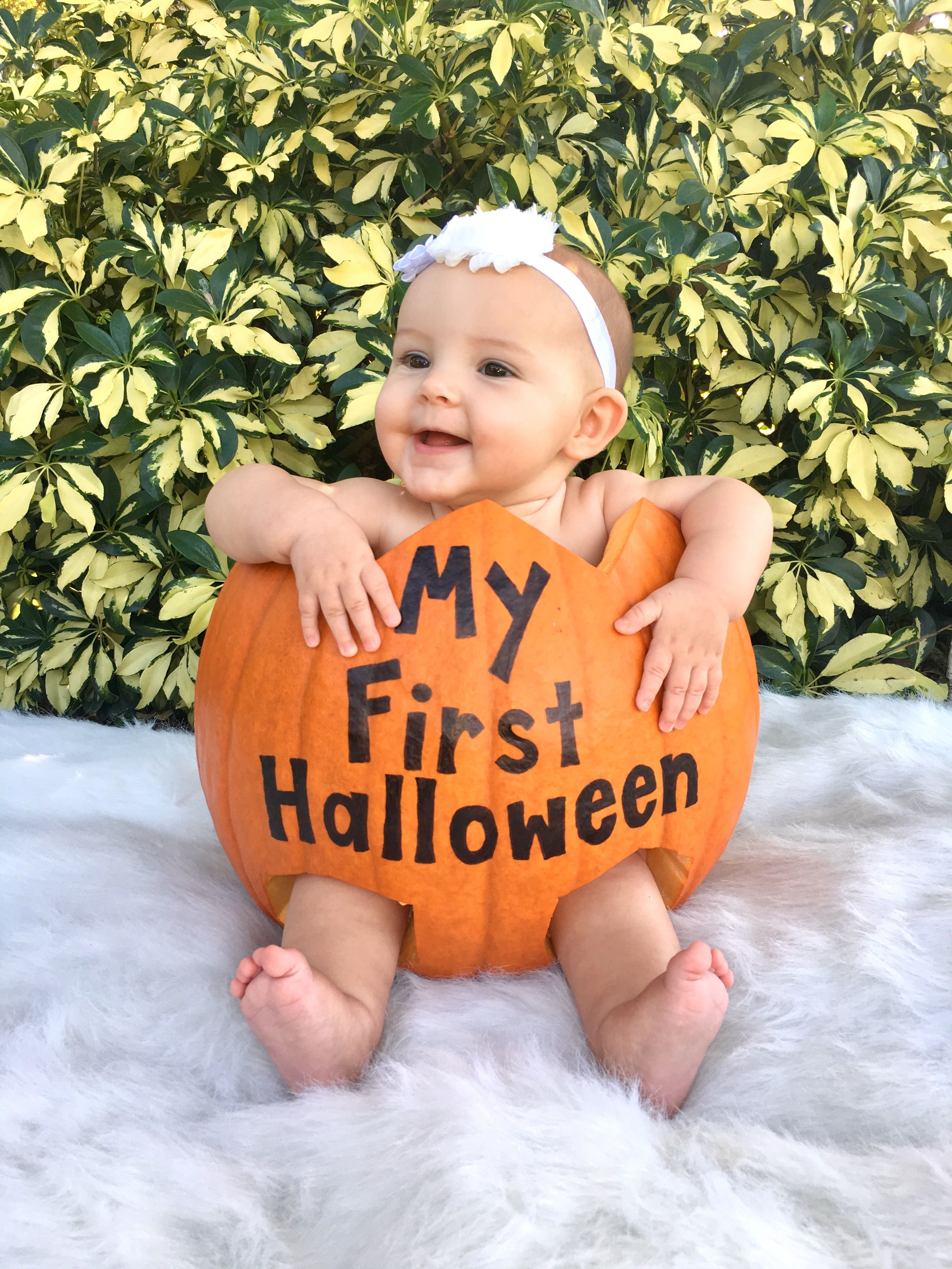 Baby in a Pumpkin My First Halloween  b22e7cceb492