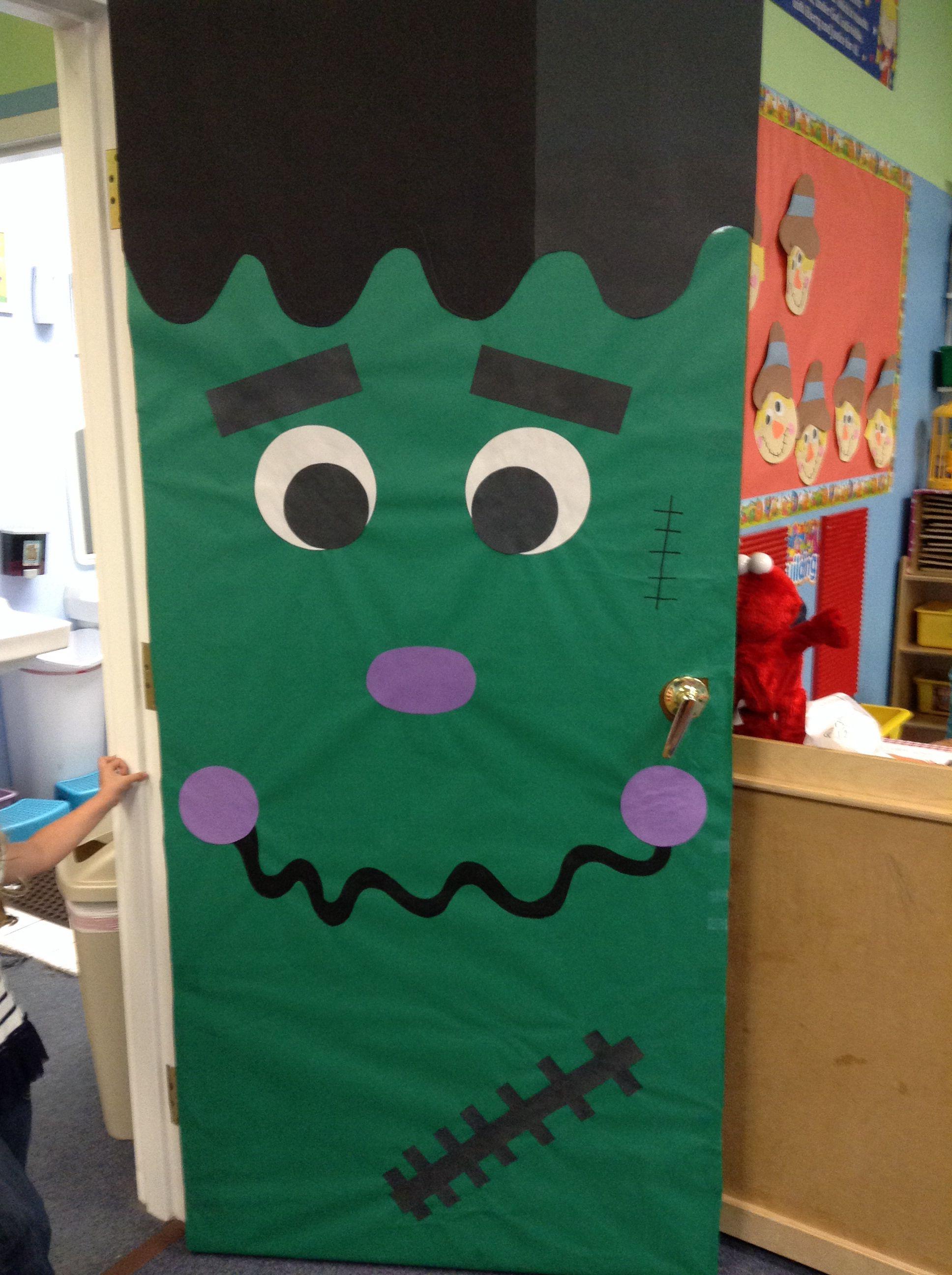 Halloween Frankenstein Door Decoration My Classroom Projects and - door decoration halloween