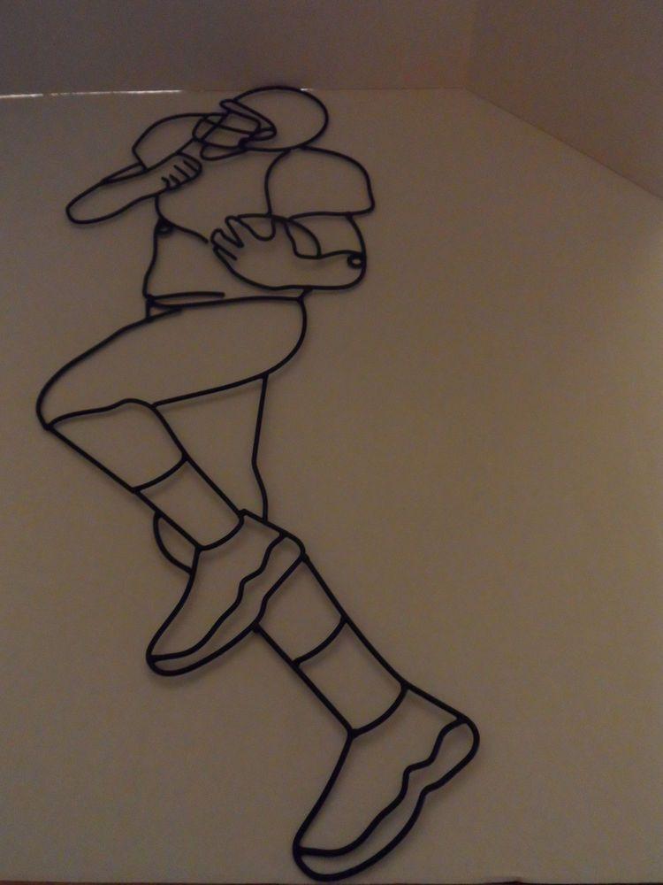 metal football wall decor