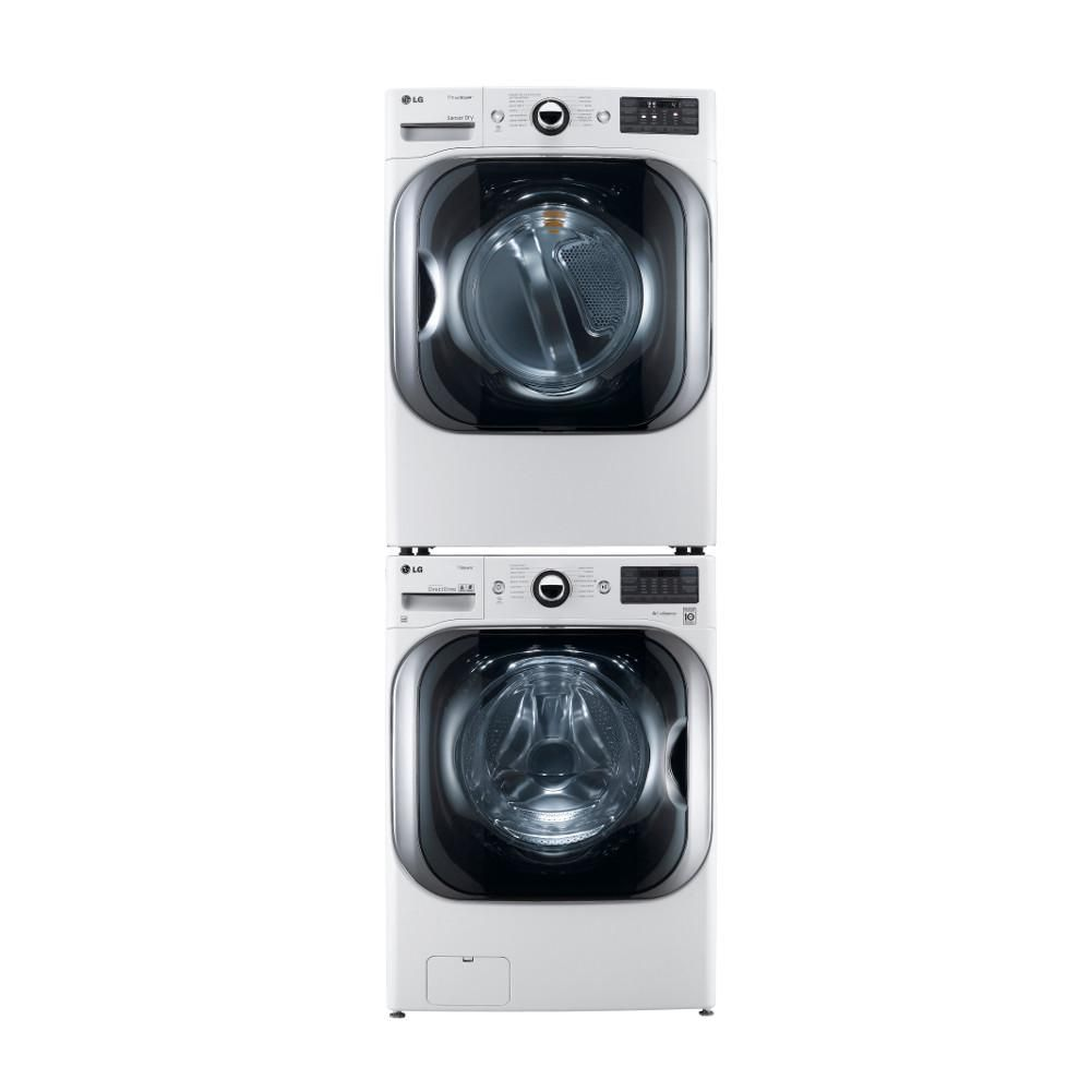 Lg Electronics 27 In 3 Piece Washer And Dryer Laundry Stacking Kit Kstk1 The Home Depot Laundry Dryer Laundry Room Storage Shelves Stackable Washer And Dryer