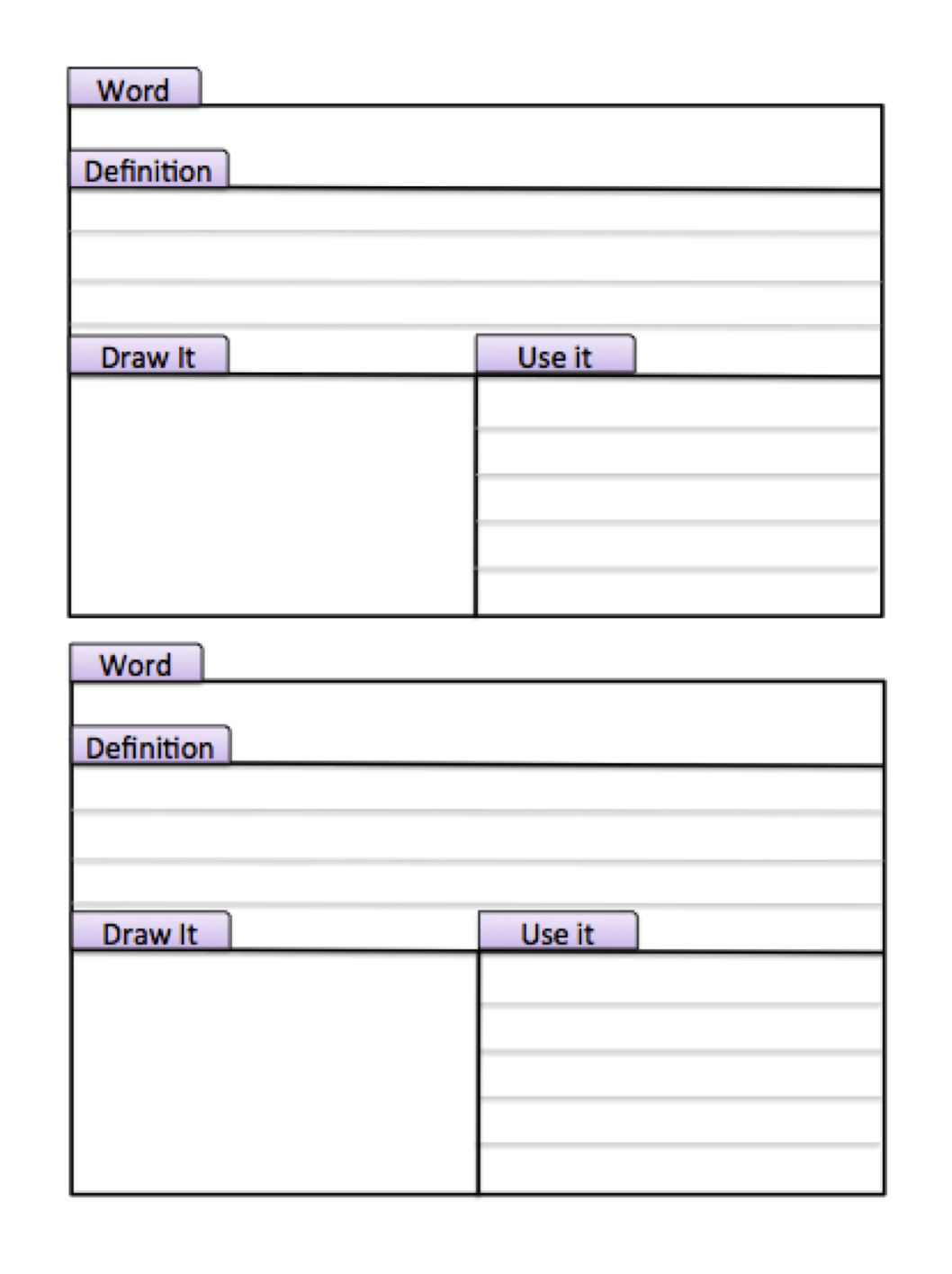 Uncategorized Vocabulary Worksheet Template vicky smith on vocabulary journal all and spanish on
