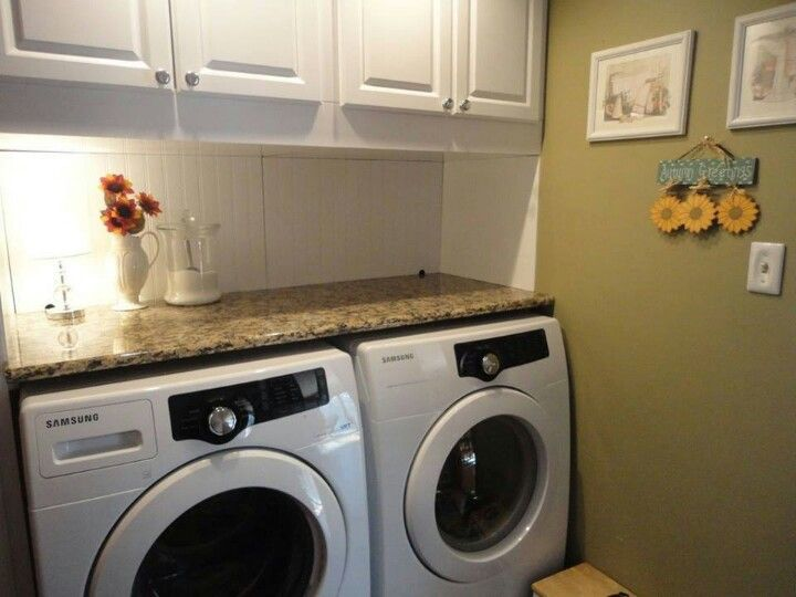how to hide unsightly hoses and wires by framing in the area above washer dryer beadboard. Black Bedroom Furniture Sets. Home Design Ideas