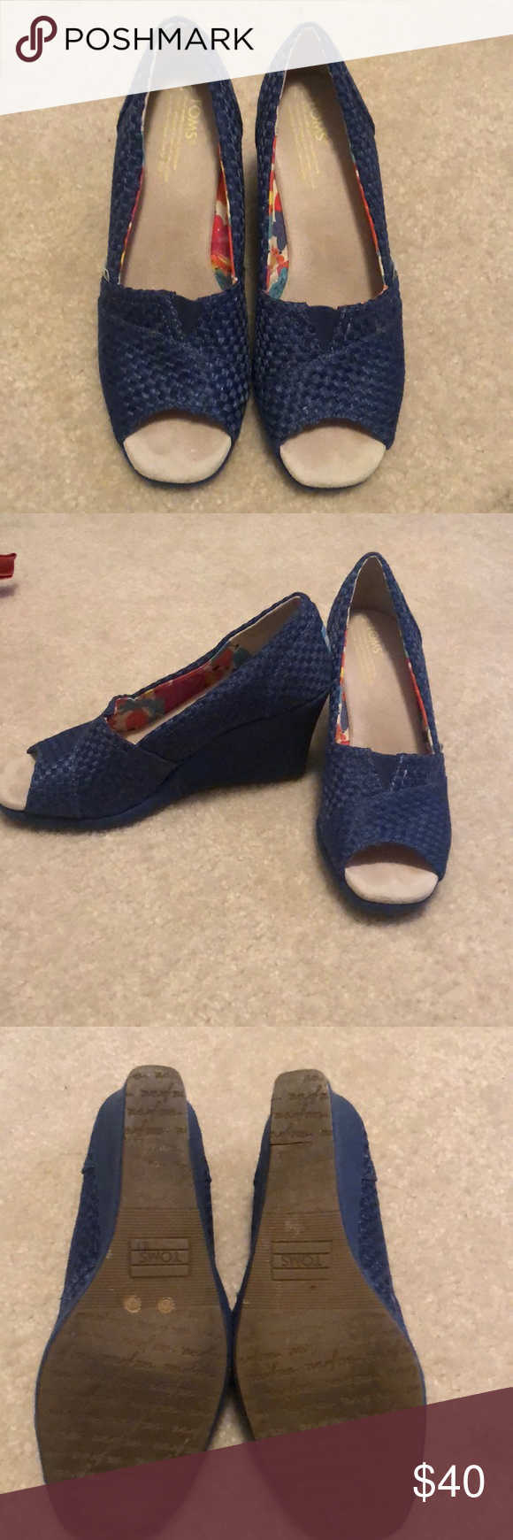 Toms Wedges Barely worn - royal blue Toms wedges Toms Shoes Wedges #tomwedges Toms Wedges Barely worn - royal blue Toms wedges Toms Shoes Wedges #tomwedges
