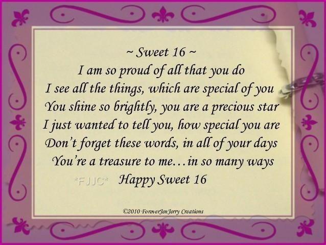 16th Birthday Quotes 16 Birthday, Birthday Poems, Birthday Bracelets, Sweet 16 Quotes  16th Birthday Quotes