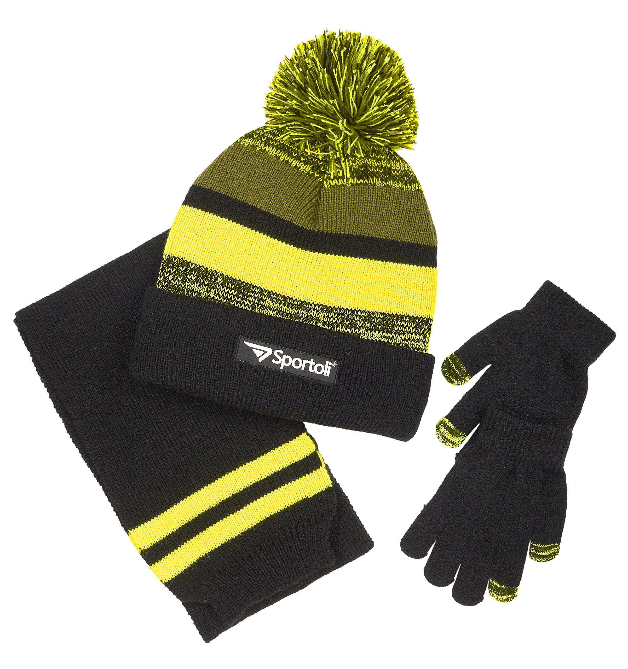 04d190ff808 Sportoli Boys  Kids Knit Cold Weather Accessory Set Warm Hat