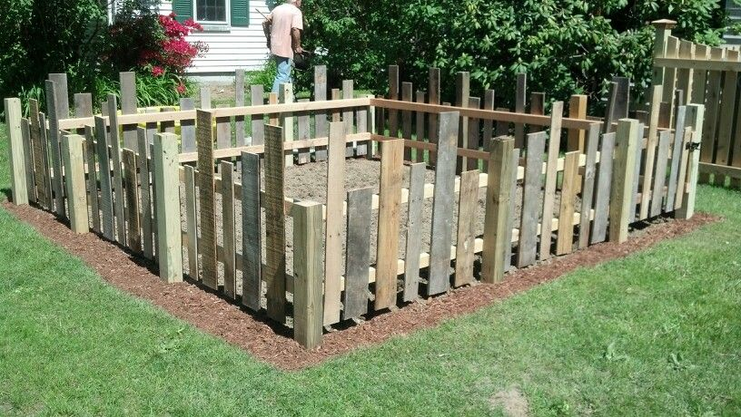 I asked my husband to build me a whimsical fence for my for Make your own fence