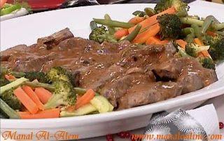 ستيك مع صلصة المشروم Recipes Food Meat Dishes