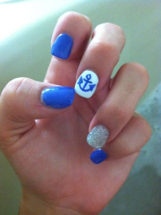 18 Creative Anchor Nail Art Tutorials Nail Design Ideaz Bonfire