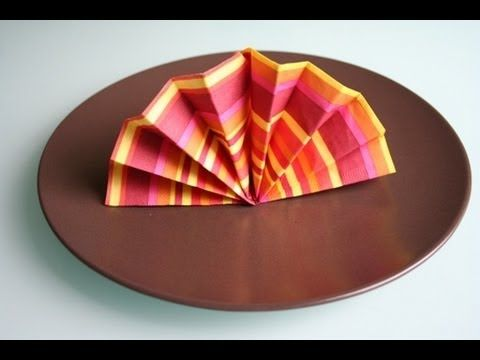Servietten falten: Fächer / napkin folding hand fan