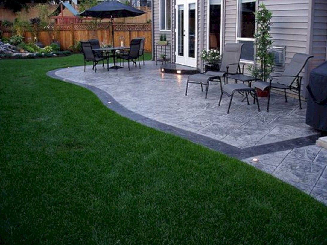 39 Impressive Patio Design Ideas In Your Garden Concrete Patio