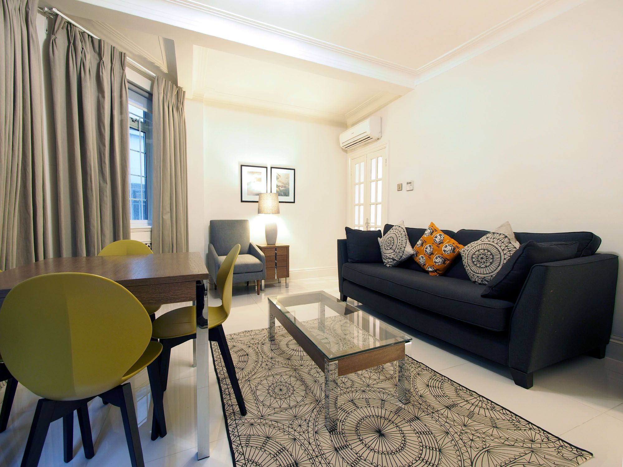 Two Bedroom apartments features a comfortable living ...