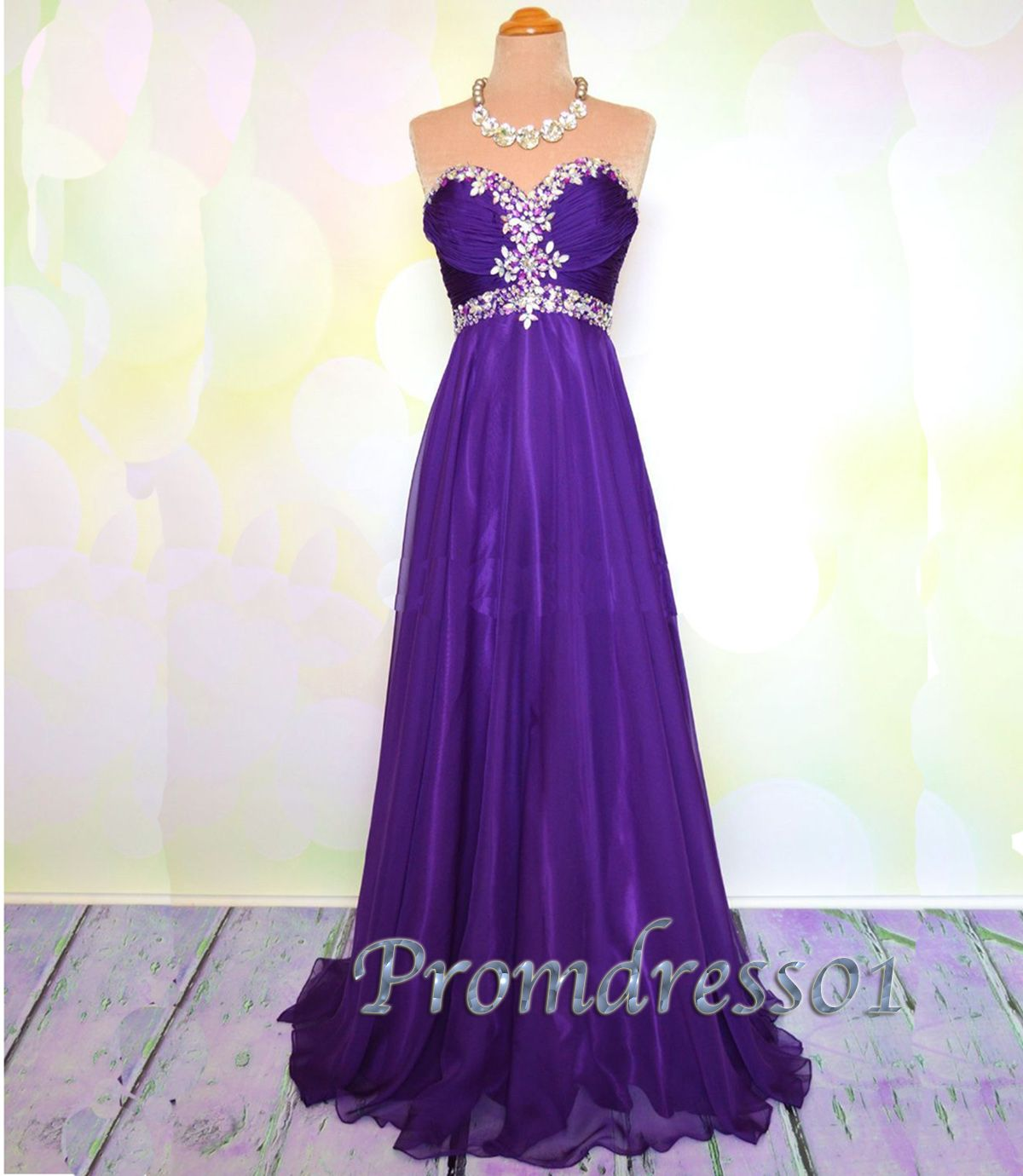 2015 sweetheart purple long prom dress for teens, homecoming dress ...