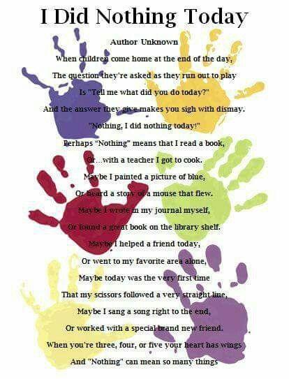 I did nothing today | Preschool poems, Preschool graduation, Preschool