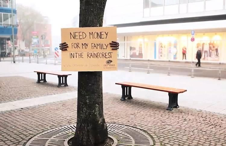 fantastic wild posting idea from @OgilvyArgentina for Oro Verde (via @creativecrmnls | http://creativecriminals.com)