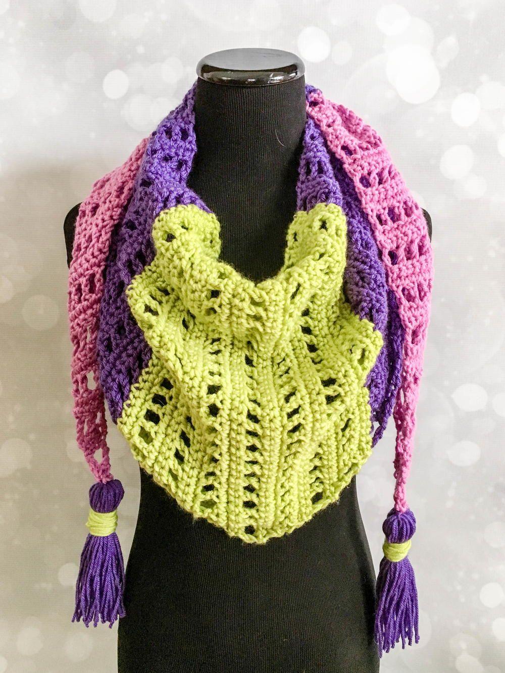 Spring Market Mod Scarf | Scarves, Crochet and Crochet scarfs