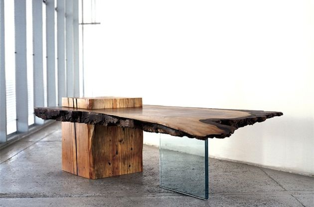Raw wood and mixed material furniture ideas for the