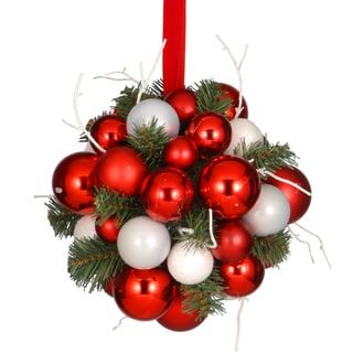 10 inch ornament kissing ball overstockcom shopping the best deals on christmas kissing ball
