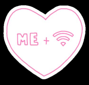 Me Wifi Heart Sticker By Xeph Tumblr Transparents Overlays Transparent Tumblr Stickers
