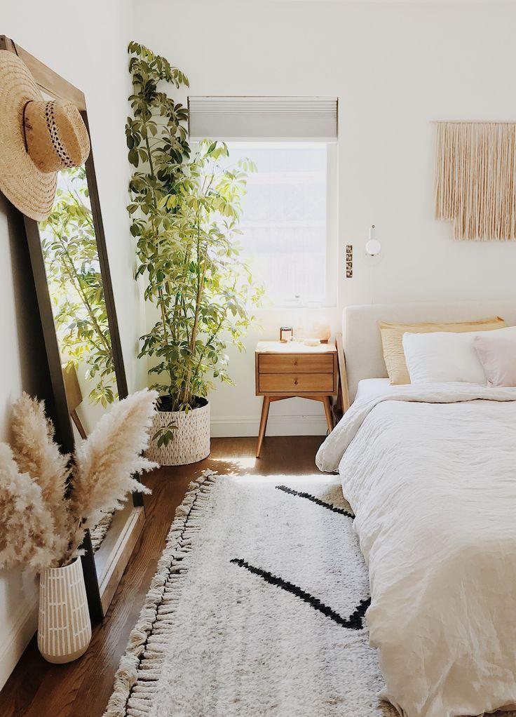 Herbe De La Pampa Dans La Chambre A Coucher Boho Idee De Chambre