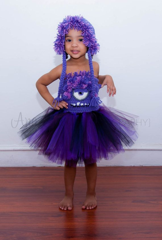 Evil Minion inspired tutu and hat set MADE TO ORDER Halloween Minion ...