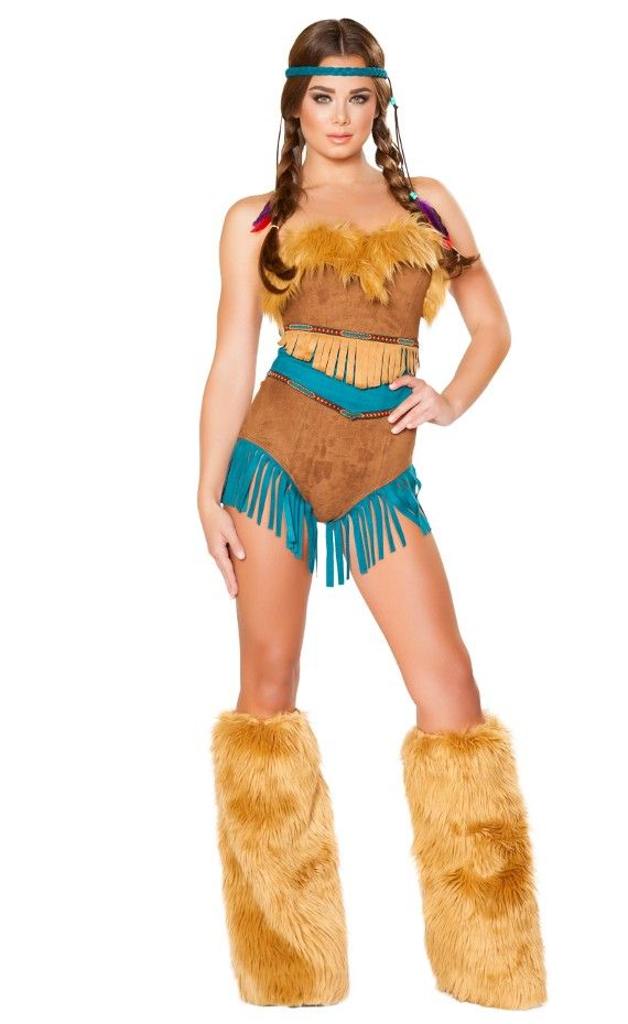 b18247b3ad 2 Piece Tribal Vixen Costume Includes Romper with Fur and Fringe detail
