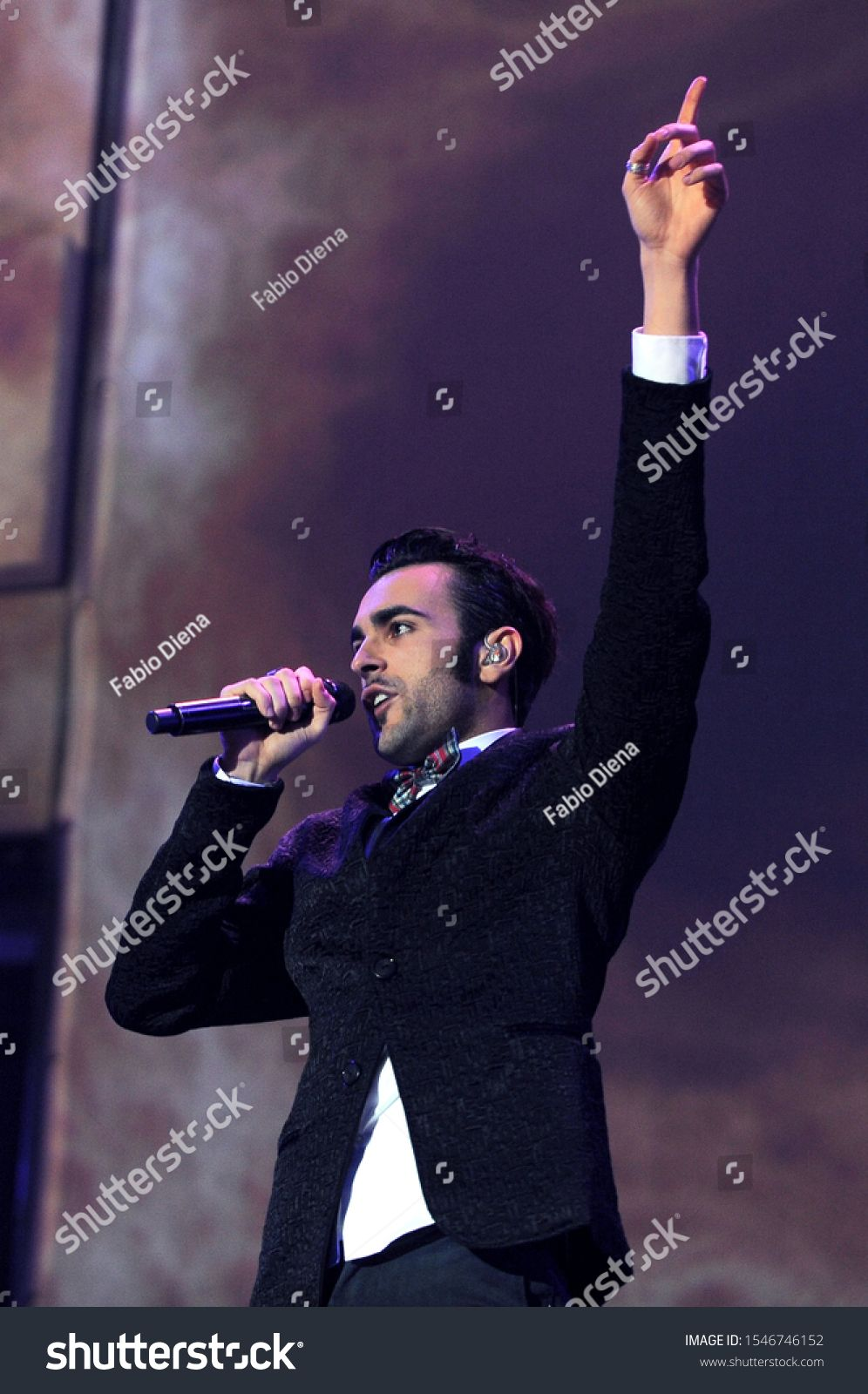 Milan Italy 26 November 2011Live concert of Marco Mengoni  Solo Tour 20 at the Forum Assago Marco Mengoni during the concert