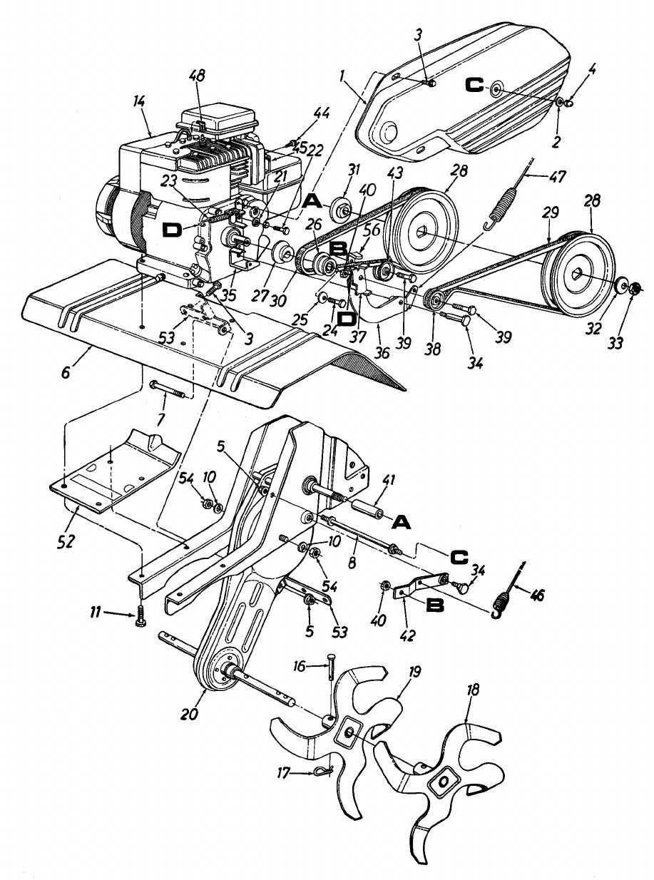 50 Yard Machine Tiller Parts Diagram Uw3w Di 2020
