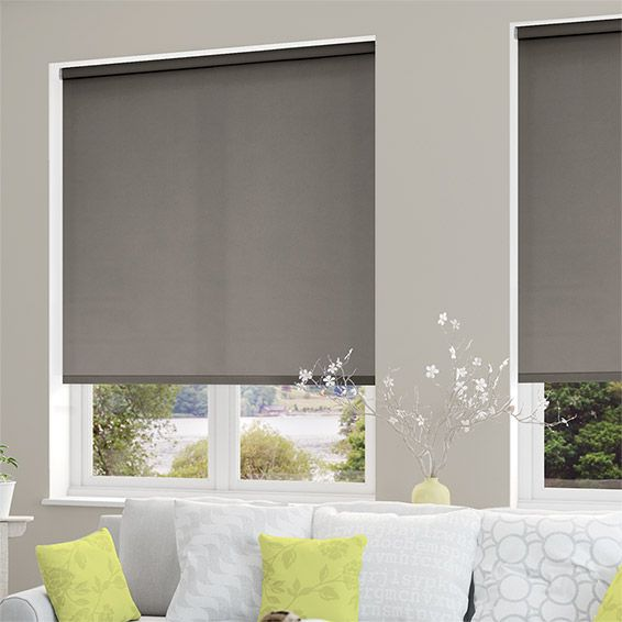 White Kitchen Roller Blinds: Valencia Simplicity Neutral Grey Roller Blind In 2019