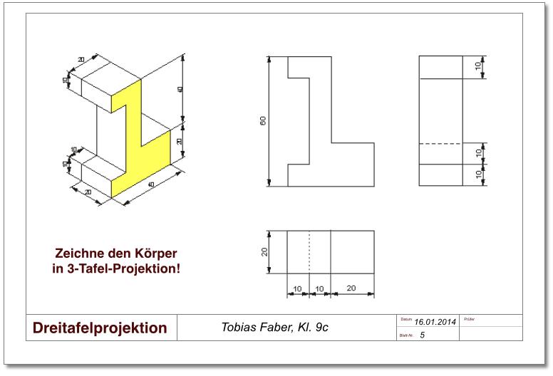 technisches zeichnen dreitafelprojektion architecture pinterest technisches zeichnen. Black Bedroom Furniture Sets. Home Design Ideas