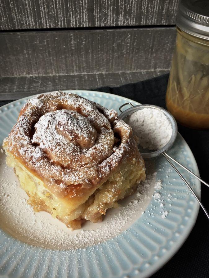 Zimtschnecken mit Sahneguss #rollcake