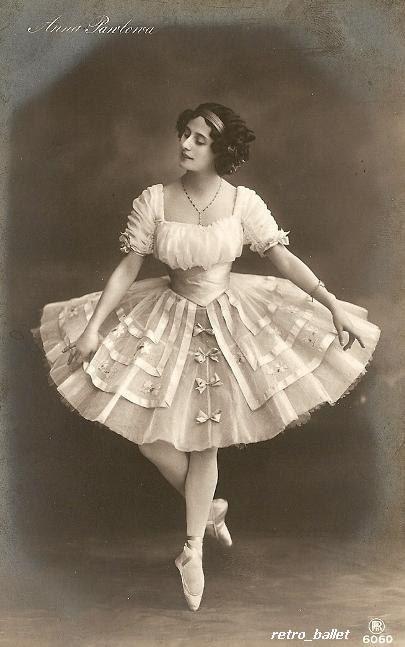 Анна Павлова ballet beautie sur les pointes vintage