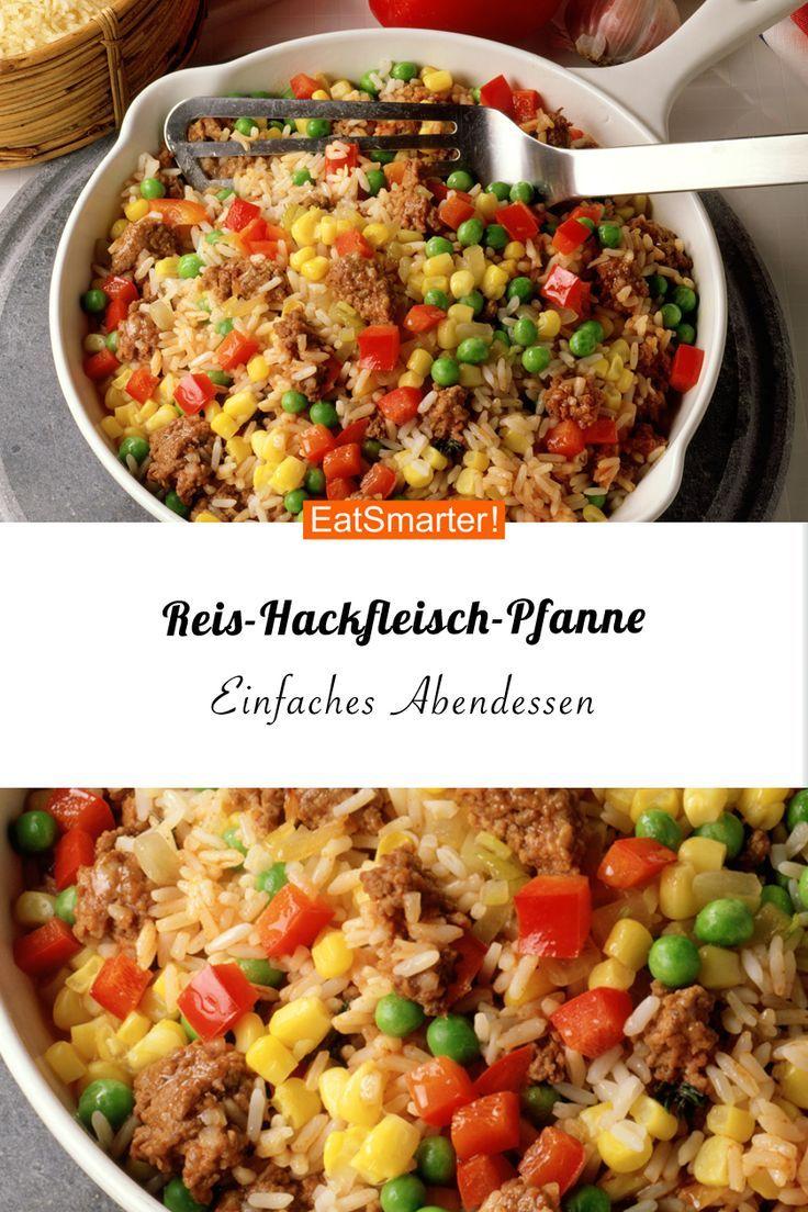 Reis-Hackfleisch-Pfanne Alles aus einer Pfanne – so ist es am einfachsten! Und diese Reis-Hackfleisch-Pfanne hat alles, was ein schnelles Abendessen haben soll! |