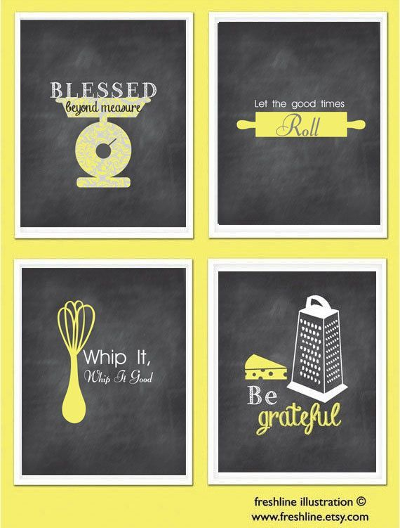 funny kitchen signs | Kitchen Wall Art Inspirational Quotes Funny ...