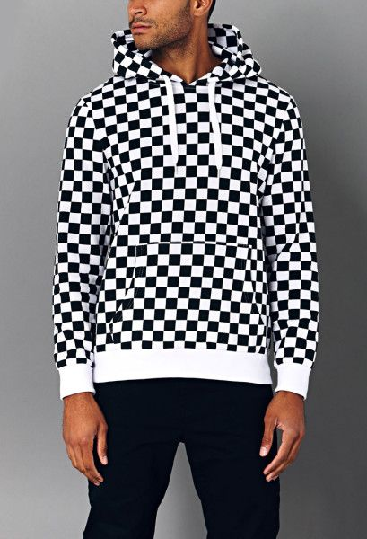 Bold Checkered Hoodie - Lyst (US  Forever21) 4be7c137d