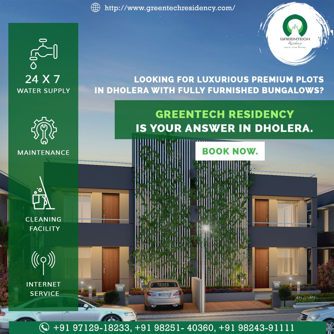 Furnished Studio Apartments: #Dholera Offers Best Residential Township Like No Other