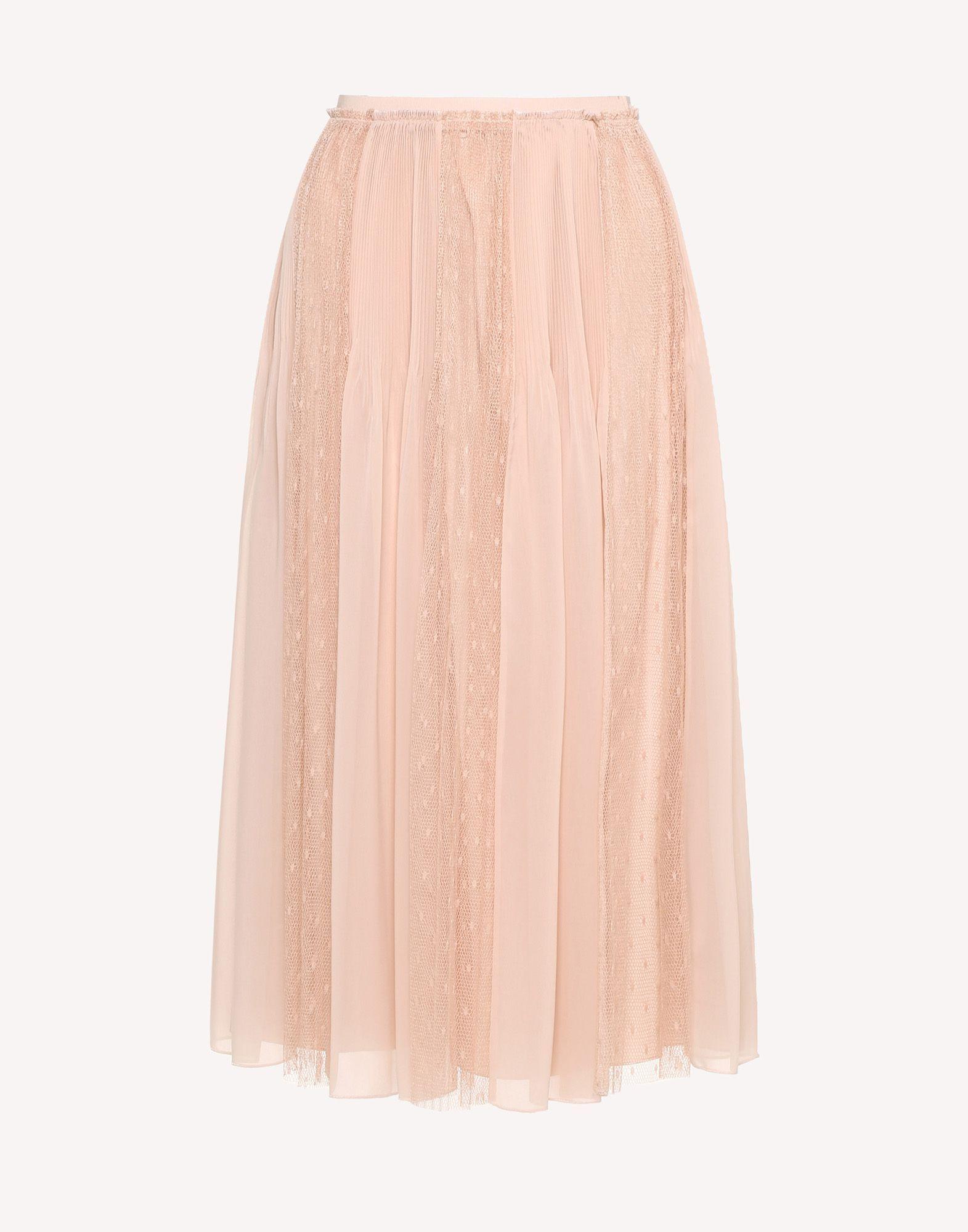 e9b5386219 REDValentino Muslin And Point D'esprit Tulle Pleated Skirt - Mini Skirt for  Women