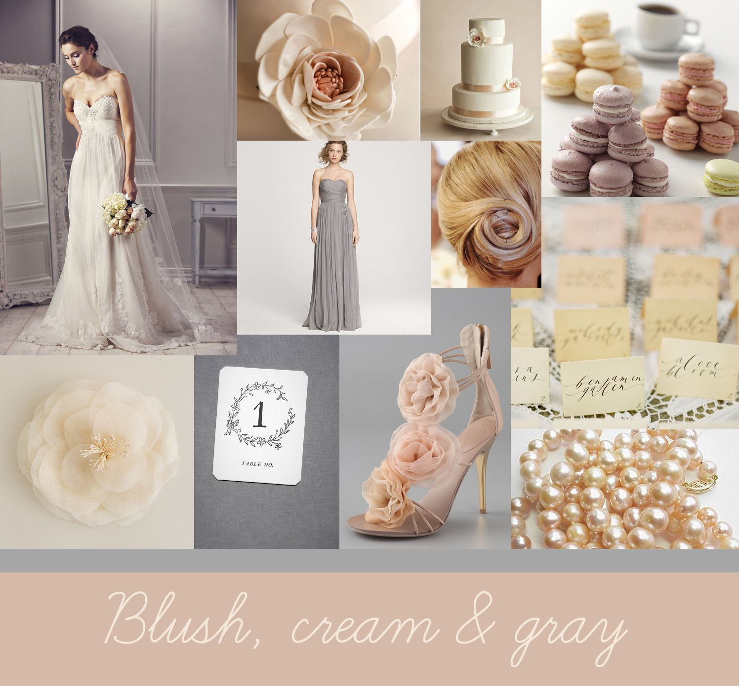 grey wedding dress | Ashley Brooke Photography: {Inspiration ...