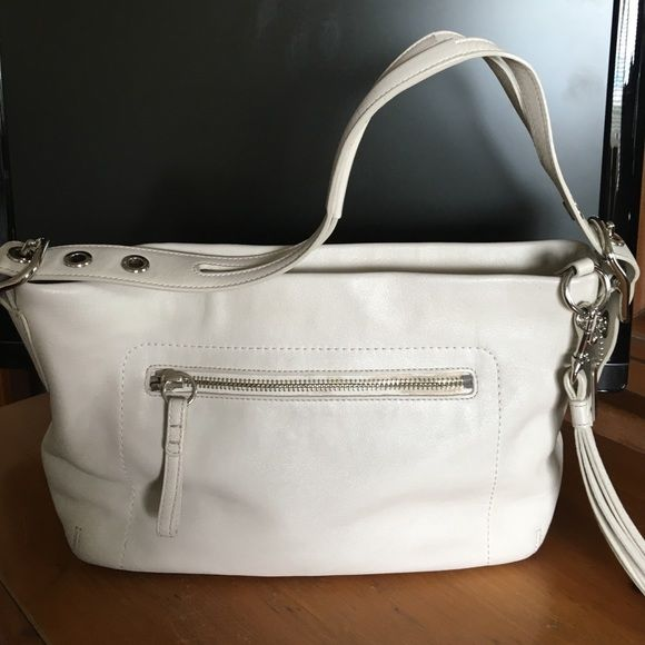 cff4f12bad ... release date coach leather handbag off white bone colored authentic  coach handbag with signature print interior