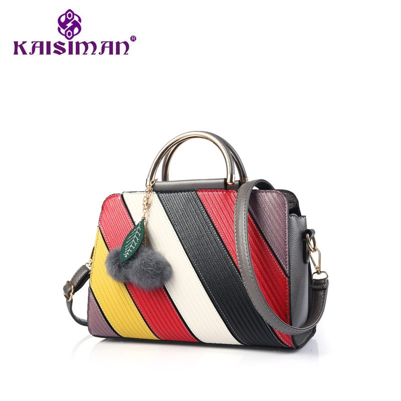 KAISMAN New Arrival Lady Messenger Bag Women Famous Brands Patchwork Top  Handbag Ladies Inclined Shoulder Woman 1ba53805a5051