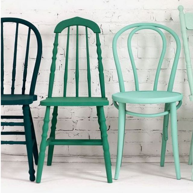 Hand painted antique Spindle Back Chairs, Thonet Bentwoods & assorted  others. Bringing all 20 - Hand Painted Antique Spindle Back Chairs, Thonet Bentwoods